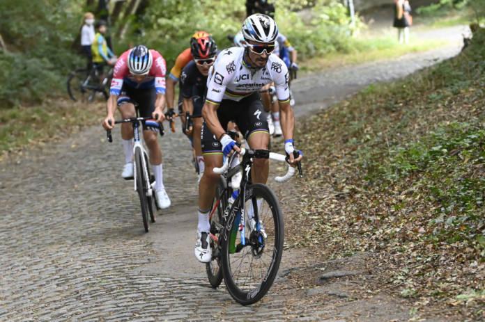 Julian Alaphilippe au départ du Tour des Flandres 2020