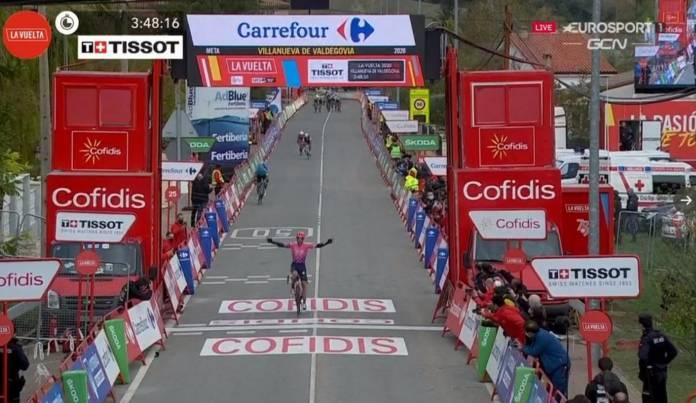 Victoire de Michael Woods sur la 7e étape de la Vuelta 2020