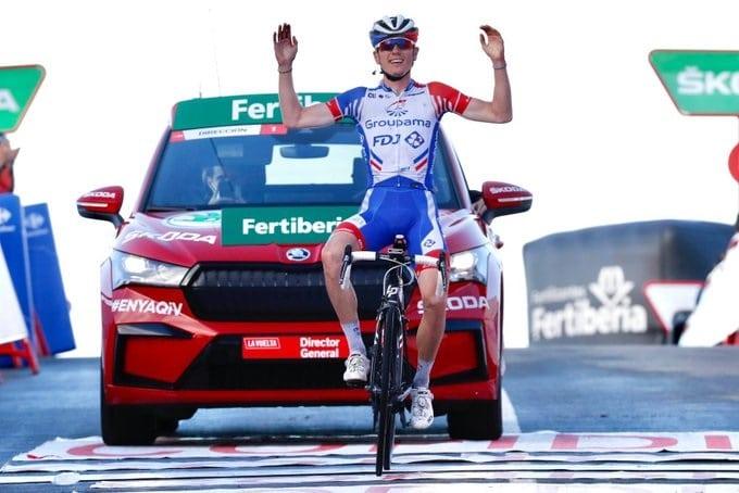 David Gaudu un des coureurs les plus en vu sur la Vuelta 2020