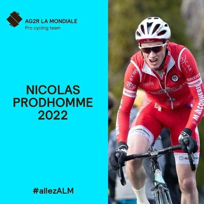 Nicolas Prodhomme lié à AG2R Citroën Team