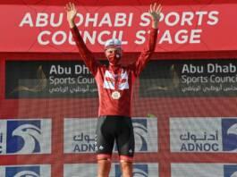 Tadej Pogacar leader après le chrono sur l'UAE Tour 2021