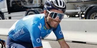 Alejandro Valverde au départ de la 4e étape du Tour de Catalogne 2021