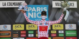 Anthony Perez maillot à pois sur Paris-Nice 2021