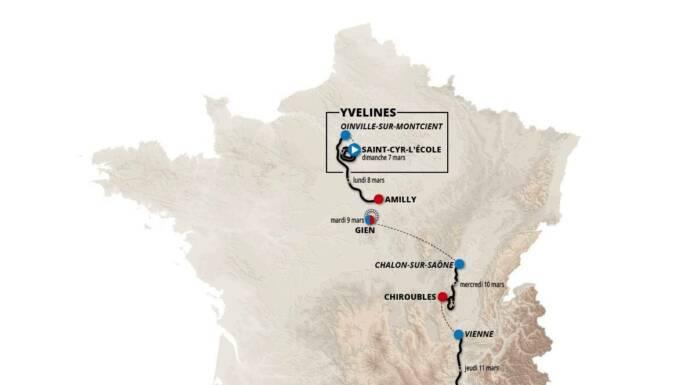 La carte du Paris-Nice 2021 : parcours complet, profils des étapes et favoris à la victoire finale.