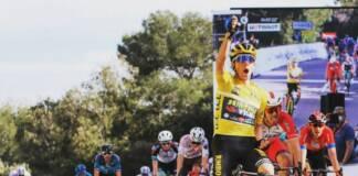 Primoz Roglic a commenté sa victoire à l'arrivée de l'étape 6 de Paris-Nice 2021