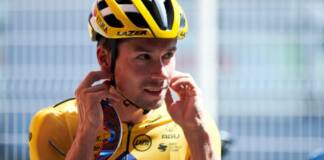 Primoz Roglic au départ de la 4e étape de Paris-Nice 2021