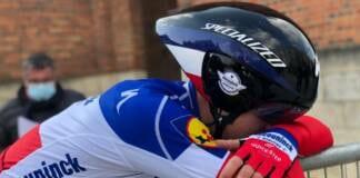 La réaction de Rémi Cavagna à l'arrivée de la 3e étape de Paris-Nice 2021