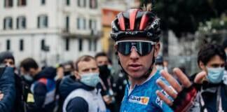 Tadej Pogacar à l'arrivée de la 5e étape de Tirreno-Adriatico 2021