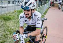 Julian Alaphilippe à l'arrivée de l'Amstel Gold Race 2021