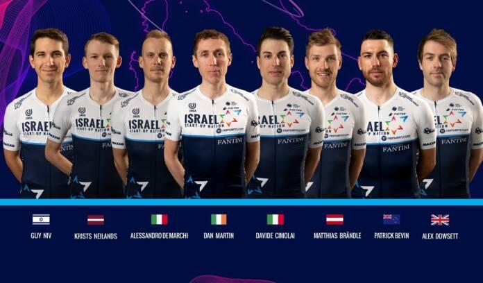 Dan Martin leader de l'équipe Israel Start-Up Nation sur le Giro 2021