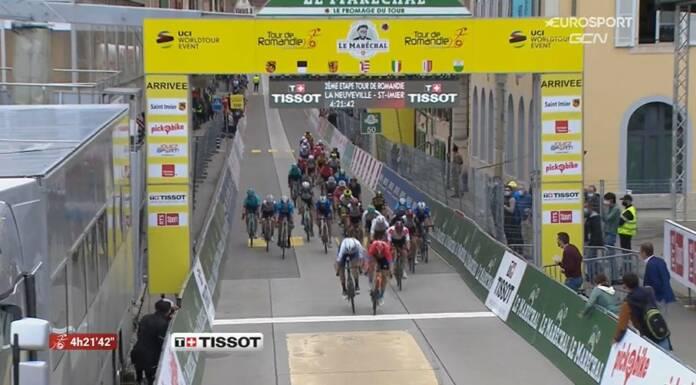 Sonny Colbrelli remporte la 2e étape du Tour de Romandie 2021