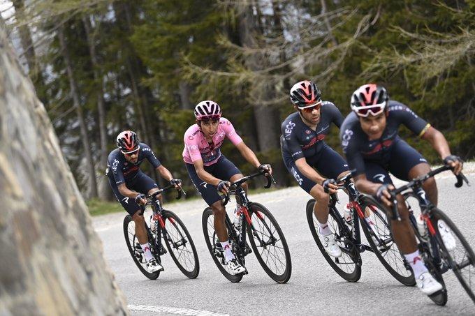 Egan Bernal toujours en rose après la 20eme étape du Giro 2021