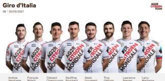 Giro 2021 : La sélection AG2R CItroën sur le 104e Tour d'Italie
