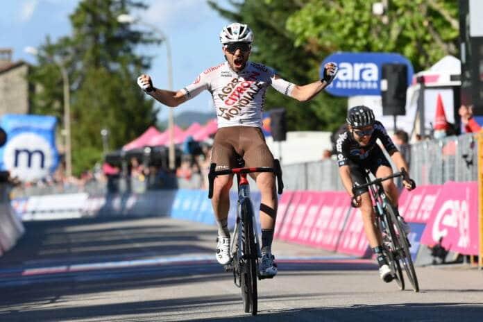 Giro 2021 : Andrea Vendrame (AG2R Citroën) remporte la 12e étape du 104e Tour d'Italie