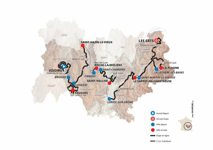 Critérium du Dauphiné 2021 : Le parcours complet, les profils et les favoris