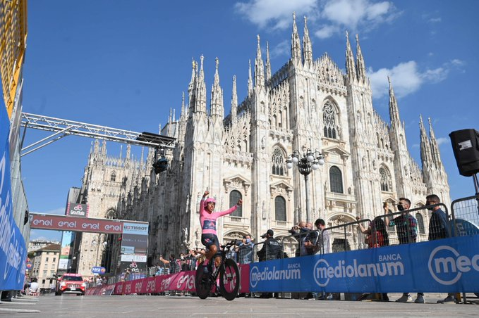 Le Giro 2021 remporté par Egan Bernal
