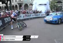 Rémi Cavagna perd le chrono final du Giro sur chute