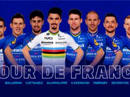 Tour de France 2021 : Deceuninck - Quick Step avec Julian Alaphilippe et Mark Cavendish