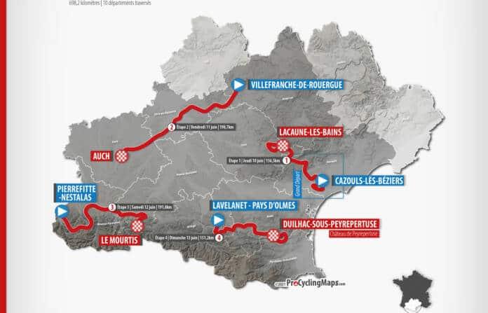 Le parcours complet de la Route d'Occitanie 2021