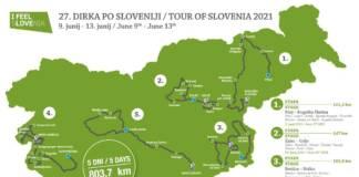 Le parcours complet du Tour de Slovénie 2021