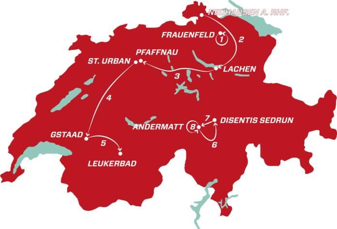 Parcours officiel du Tour de Suisse 2021