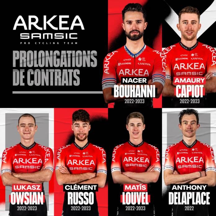 Arkea Samsic renouvelle sic coureurs arrivés en fin de contrat dont Nacer Bouhanni