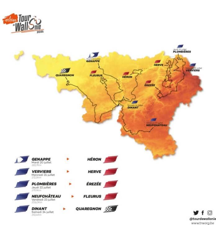 Tour de Wallonie 2021 : Le parcours complet