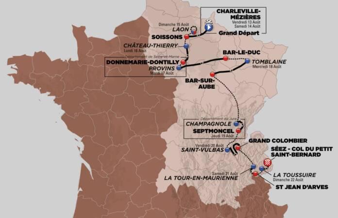 Tour de l'Avenir 2021 : Le parcours complet et le profil des étapes