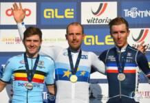 Benoit Cosnefroy sur la troisième marche du podium du championnat d'Europe 2021