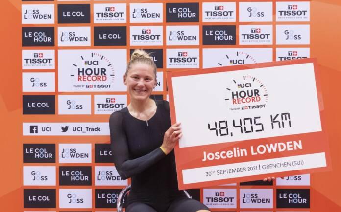 Record de l'heure : Joscelin Lowden établit un nouveau record de l'heure chez les femmes